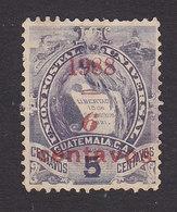 Guatemala, Scott #77, Used, National Emblem Surcharged, Issued 1898 - Guatemala