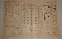 Plan D'une Maison De Rapport, Rue Des Laitières à Vincennes. Seine. 1908 - Public Works