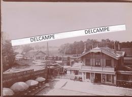 JOINVILLE LE PONT 1898 - Photo Originale De La Perspective Sur La Gare ( Val De Marne ) - Lieux