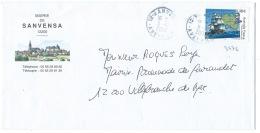 ENVELOPPE MAIRIE DE SANVENSA / AVEYRON 2002 / N° 3476 AUSTRALIE FRANCE FLINDERS BAUDIN 1802 - Poststempel (Briefe)