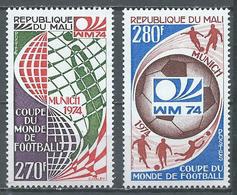 Mali YT N°216/217 Coupe Du Monde De Football Munich 1974 Neuf ** - Mali (1959-...)