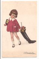Illustrateur - BOMPARD - Petite Fille Avec Des Jouets. - Bompard, S.