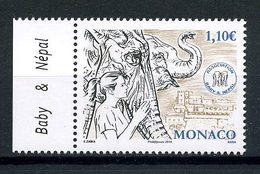 MONACO 2014 N° 2938 ** Neuf MNH Superbe Faune Eléphantes Princesse Stéphanie Association Baby Népal - Monaco