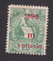 Guatemala, Scott #79, Mint Hinged, National Emblem Surcharged, Issued 1898 - Guatemala