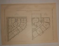 Plan D'une Maison De Rapport, Rue Des Laitières à Vincennes. Seine. 1908 - Travaux Publics