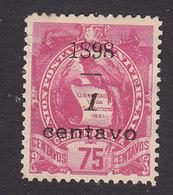 Guatemala, Scott #81, Mint Hinged, National Emblem Surcharged, Issued 1898 - Guatemala