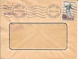 SEINE 75  - PARIS 58 - FLAMME N° B O58 101 K - DESCRIPTION -  1954 - Postmark Collection (Covers)