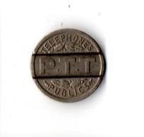JETON DE TÉLÉPHONE . P. T. T. . TÉLÉPHONES PUBLICS - Réf. N°69B - - Telefonmünzen