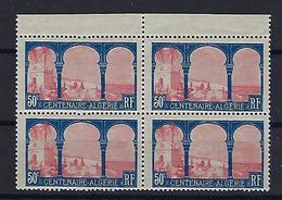 """FR YT 263 Bloc De 4 """" Centenaire De L'Algérie Française """" 1930 Neuf** - France"""