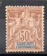 GUADELOUPE - YT N° 35 - Neuf * - MH - Cote: 28,00 € - Unused Stamps