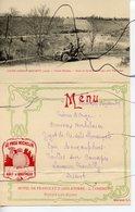 CPA + Carte Menu Restaurant. COUPE GORDON BENNETT 1905. Circuit MICHELIN. Route En Corniche Et Virages Apres PONTAMUR. - Frankreich