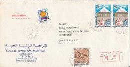 Tunisia Registered Cover Sent To Denmark Bizerte 17-3-1980 - Tunesien (1956-...)