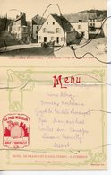 CPA + Carte Menu Restaurant. COUPE GORDON BENNETT 1905. Circuit MICHELIN. Virage Dans La Traversée De ROCHEFORT. - Frankreich