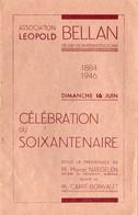 Vieux Papiers > Non Classés Association Léopold Ballan Celebration Du Soixantenaire Programme 16 Juin 1946 - Alte Papiere