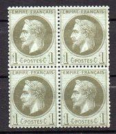 Col 8 :  France Bloc De 4 Du N° 25 Neuf XX MNH Signé Cote : 350€ - 1862 Napoleon III