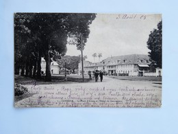 C.P.A. GUYANE : CAYENNE : La Place D'Armes Et L'Hôtel Du Gouverneur, Animé, Timbre En 1905 - Cayenne