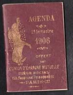 Vieux Papiers > Non Classés Agenda 1906 - Alte Papiere