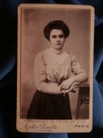 Photo CDV Muller Rault à Paris   Portrait Jeune Femme Vers 1895 L369 - Photos
