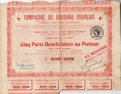 ACTION - Compagnie Du KOUANGO FRANCAIS - Africa