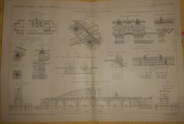 Plan Du Chemin De Fer Métropolitain De Paris.Ligne Circulaire N°2 Sud. 1908 - Public Works