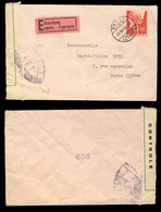 (Ref #00062)  SUISSE / SWITZERLAND - 1945 Mi.381 90c Carmine/rose Single On Censored Special Delivery Cover From Vevey - Switzerland