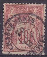 Yvert N° 94 Oblitéré Chargements Troyes - Marcophilie (Timbres Détachés)