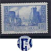"""FR YT 261b TI """" Port De La Rochelle, Outremer Pâle """" 1930 Neuf** - France"""