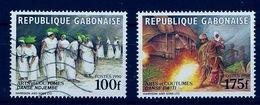 Gabon Gabun Congo 1990 Arts Et Coutumes Bwiti Danses Ndjembe (oblitéré Et Neuf) RR - Gabon