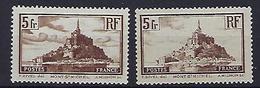 """FR YT 260 & 260a """" Mont-Saint-Michel """" 1929 Neuf** - France"""