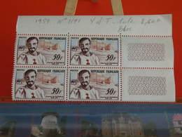 France Bloc 4 Val > 1959 N°1191 < Y&T > Charles De Foucauld 1858-1916 - Coté 2,60€ - France