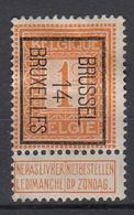 """BELGIË - PREO - 1914 - Nr 45 B - BRUSSEL """"14"""" BRUXELLES - (*) - Vorfrankiert"""