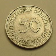 1991 - Allemagne - Germany - 50 PFENNIG, (A), KM 109.2 - [ 7] 1949-… : FRG - Fed. Rep. Germany