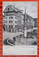FISCHMÄRT BASEL 1914 Nach Evian - BS Bâle-Ville