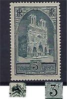 """FR YT 259 TI """" Cathédrale De Reims """" 1929-31 Neuf** - France"""