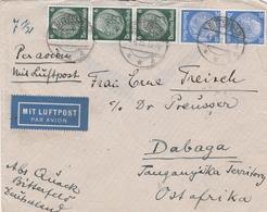Allemagne Lettre Bitterfeld Pour Le Tanganyika 1935 - Duitsland