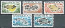 Mali YT N°236/240 Poissons Neuf ** - Mali (1959-...)