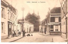 CP. De PUERS - Botermarkt En Pensionnat Du 14/7/1927 V/EECLOO - Puurs