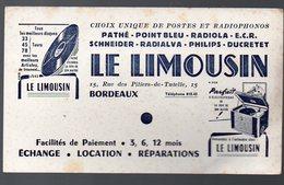 Bordeaux (33 Gironde) Buvard LE LIMOUSIN (TSF) (PPP8412) - Blotters