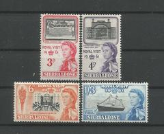 Sierra Leone 1961 Royal Visit  Y.T. 207/210 ** - Sierra Leone (1961-...)