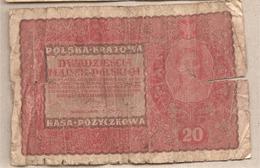 Polonia - Banconota Circolata Da 20 Marka P-26b.1 - 1919 - Polonia