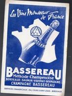 Bordeaux (33 Gironde) Buvard Vin Mousseux BASSEREAU (PPP8414) - Vloeipapier