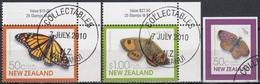 NUEVA ZELANDA 2010 Nº 2596/97 + 2598 USADO - Nueva Zelanda