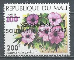 Mali YT N°206 Fleur Surchargé Sécheresse Solidarité Africaine Neuf ** - Mali (1959-...)
