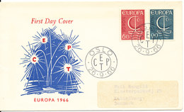 Norway FDC EUROPA CEPT 26-9-1966 With Cachet - Europa-CEPT
