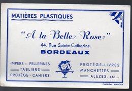 Bordeaux (33 Gironde) Buvard A LA BELLE ROSE (matières Plastiques) (PPP8418) - Blotters