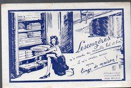 Bazas (33 Gironde) Buvard LESCOUZERES (meubles, Linge De Maison) (PPP8419) - Textile & Clothing
