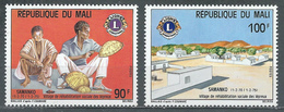 Mali YT N°234/235 Réhabilitation Sociale Des Lépreux Lions International Neuf ** - Mali (1959-...)