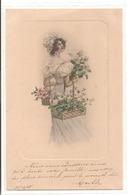 M. M. VIENNE - Femme Avec Des Fleurs. - Femmes