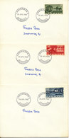 Denmark FDC 28-4-1960 Complete Set Of 3 On 3 Covers Agriculture Motives - Agriculture