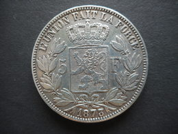 Belgium 5 Francs 1873 - 1865-1909: Leopold II